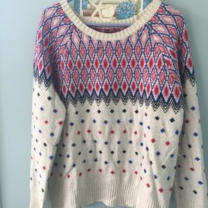 AMERICAN EAGLE SWEATERS NORDIC CREAM/Red/Blue - M